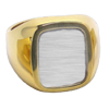 Cushion Rectangle Signet Ring